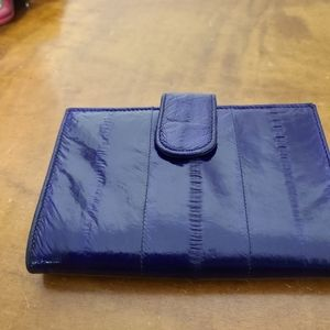 "Eel Skin Wallet Purple Soft 5.5"" x 3 1/4"" Folded"